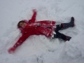 snow angel!