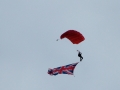 The firemen parachuted in to raise money in 2005