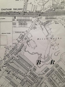 1909 old map brickfield