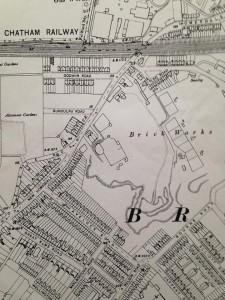 1909 old map brickfield