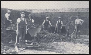sittingbourne museum men digging brickearth