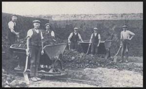 sittingbourne museum men digging brickearth