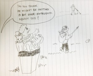 cartoon litter picking