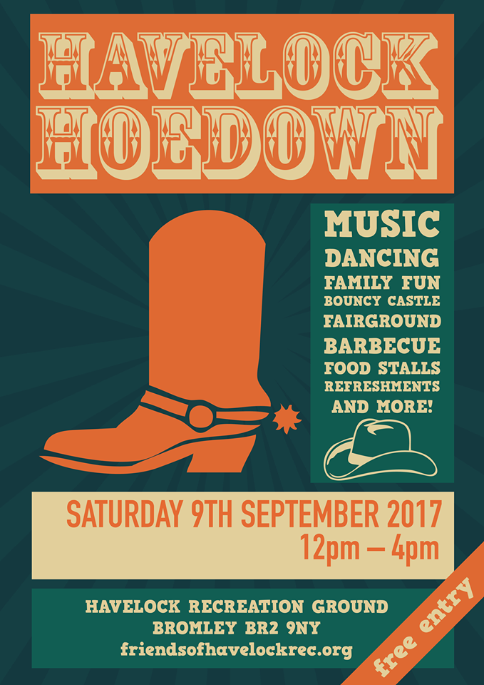 Havelock Hoedown with the iconic cowboy boot for all the music & dancing