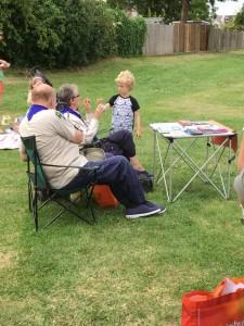 17jul08 brickfield-birdbox-day scouts-table