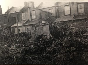 debris and back of houses