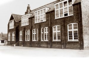 Victorian 2 storey school with large windows