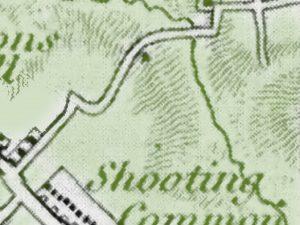 old map showing contours n lane