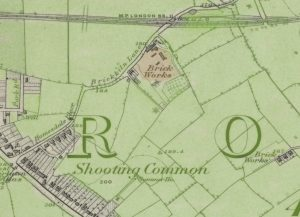 old os map showing small brickfield
