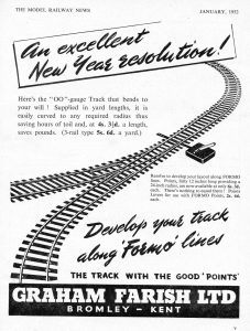advert with curved railway track