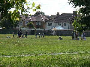 little kids football training